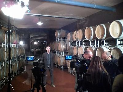 Durante le riprese di un video promozionale dell'azienda Bisol a Treviso