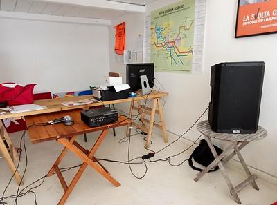Videoproiettore e amplificazione