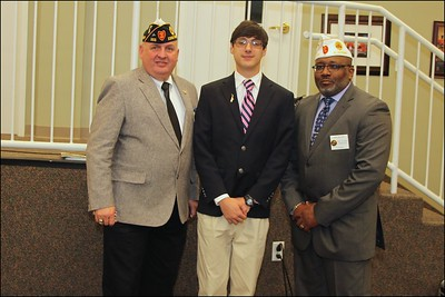 Mason Herrington with District 21  and  Division II Commanders
