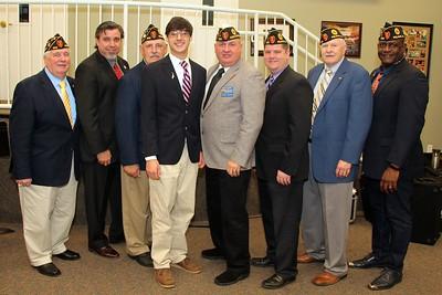 Mason Herrinton with Mathew Blount Post 555 members