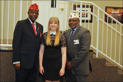 L-R Willis Frazier,  Nation Executive Committee Representative for Depart of Alabama, Marlie Wells, Rick Waller, Division II Commander