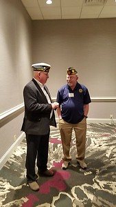 Commander Barry Blount , !st Vice Commander Richard Kaster