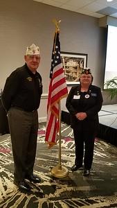 Texas Department Commander with post 555 1st Vice Commander Anita Bennett