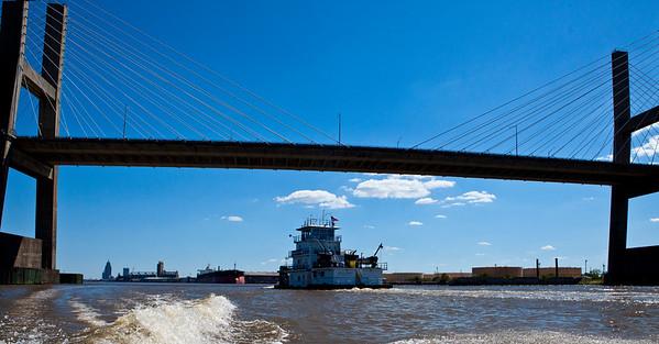 Africatown Bridge Barge Traffic Mobile River Mobile AL_1328