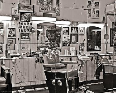 reflections of a barber shop, 2nd Avenue North, Birmingham, AL
