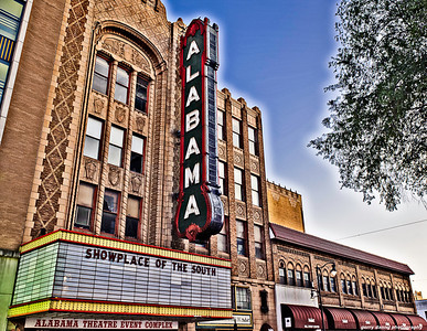 The Alabama Theatre sign, Birmingham, AL