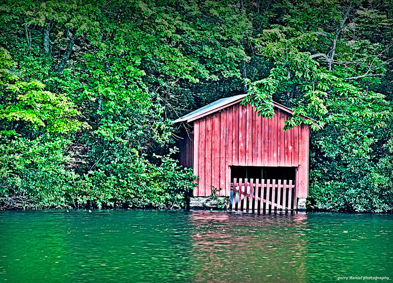 Boathouse at DeSoto Falls in Alabama