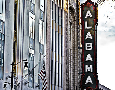 Alabama Theatre sign, 2nd Avenue North, Birmingham, AL