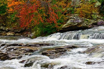 white water in autumn at Turkey Creek Nature Preserve, Pinson, AL