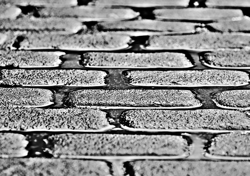 cobblestones after a rain, Morris Avenue, Birmingham, AL