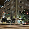 the corner of 3rd Avenue North and 19th Street at night, Birmingham, AL