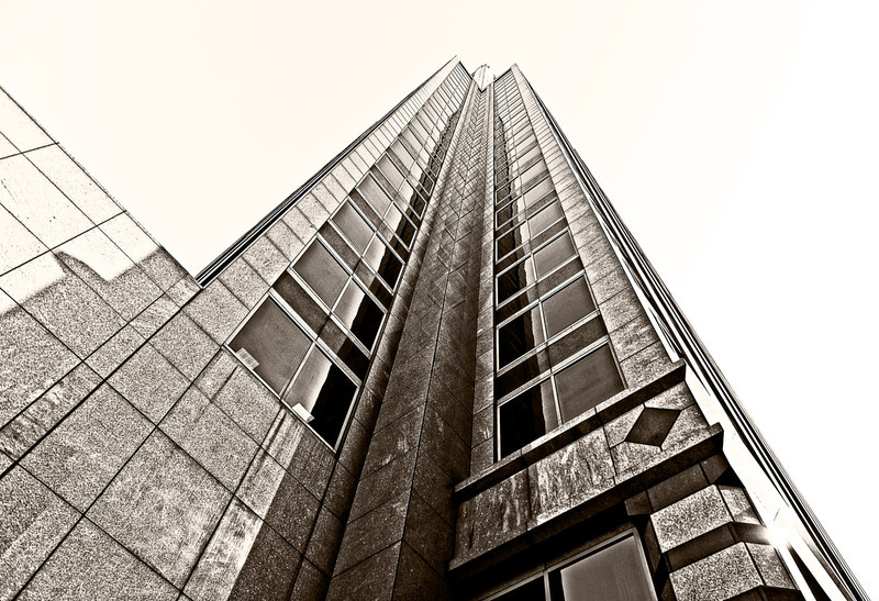 wide angle photograph of a building in Birmingham, AL