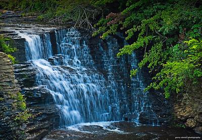 the waterfall at Desoto Falls in Alabama