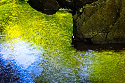 rocks, water, colors, photographed at Turkey Creek Nature Preserve