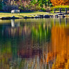 autumn reflections at the lake at Aldridge Gardens, Hoover, AL