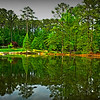 Lake scene and reflection at Aldridge Gardens, Hoover, AL