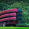canoes on a trailer at Birmingham Botanical Gardens, Birmingham, AL