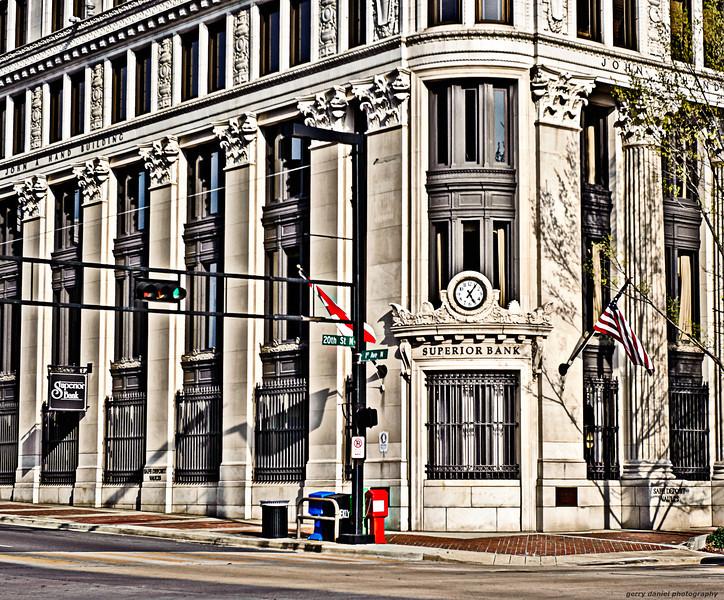 The corner of 20th St North and 1st Avenue, Birmingham, AL