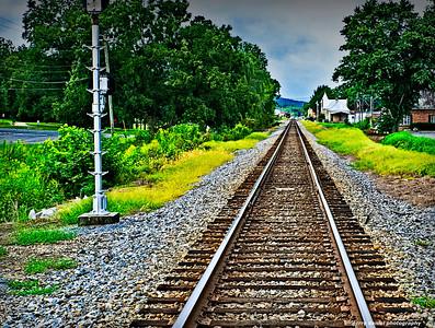 Train tracks in Fort Payne, AL