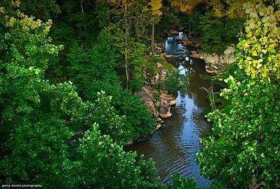 below the falls at Noccalula Falls, Gadsden, AL
