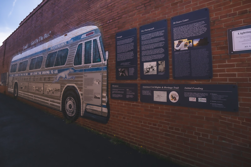 Freedom Riders National Monument in Anniston Alabama