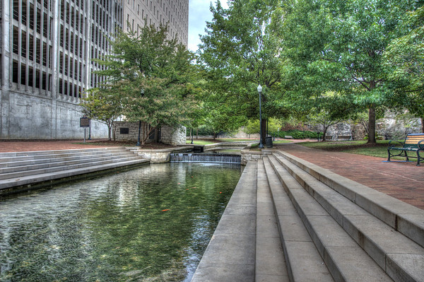 Big Spring Park is located in downtown Huntsville, Alabama. The park is built around its namesake