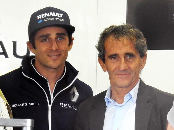 Alain and Nicolas Prost seen in Paris