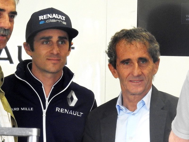 Alain and Nicolas Prost seen in Paris