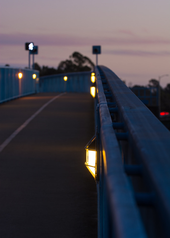 Bay Farm Bridge at Dusk