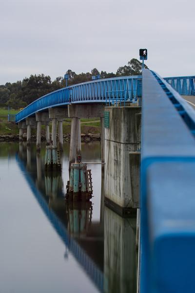 Bay Farm Bridge on a Cloudy Dawn