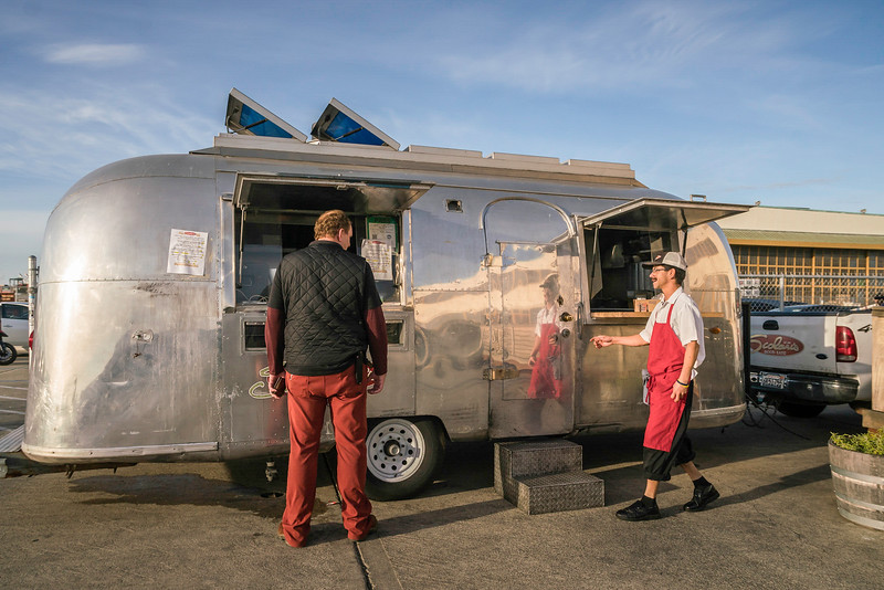 Scolari's food truck servicing wine & beer venues at Alameda Point