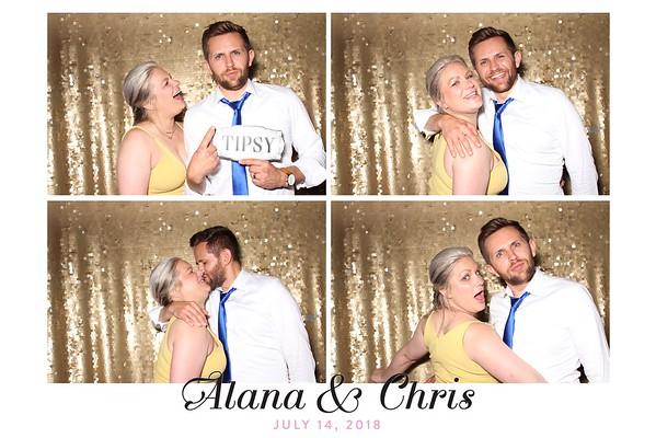 Alana and Chris Wedding (Studio Booth)