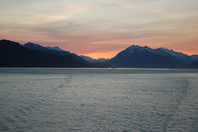 Alaskan Bay - Sun at Midnight