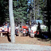 Motercycle Camper for six at Crater Lake National Park. <br /> July 06, 1958