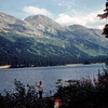 Azouzetta Lake at Pine Pass Semmet, british Columbia. (Lunch Stop)<br /> July 11, 1958.