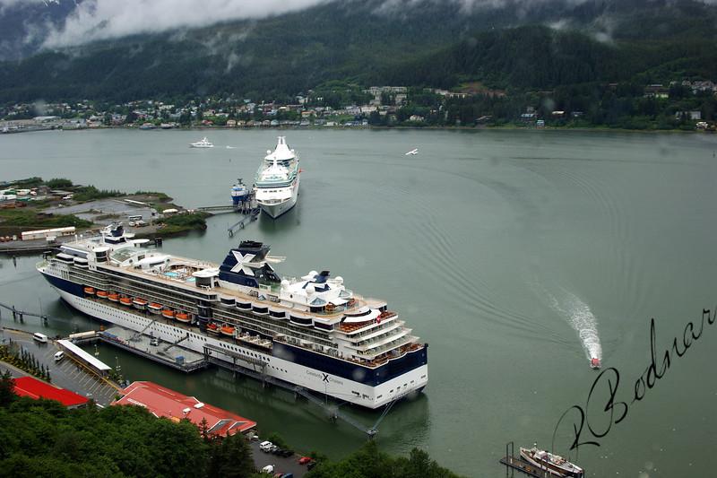 Photo By Robert Bodnar..... Cruise Ships in Juneau Alaska