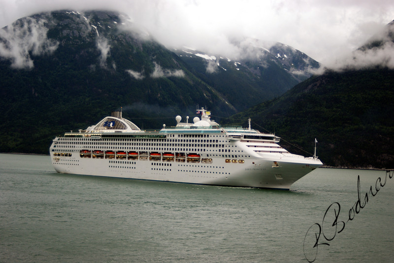 Photo By Robert Bodnar.....Cruise Ship coming into Skagway Alaska