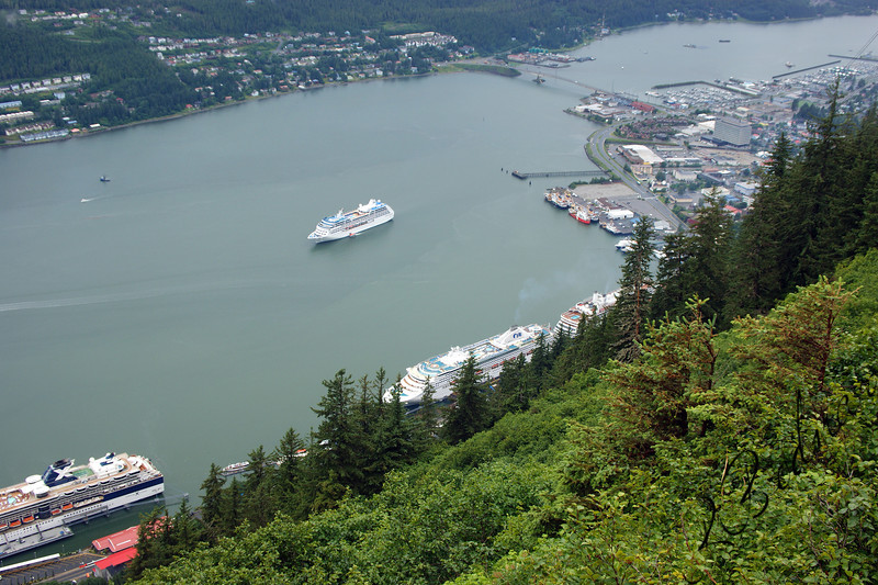 Photo By Robert Bodnar..........Looking down on Juneau Alasla,  From Mt Roberts