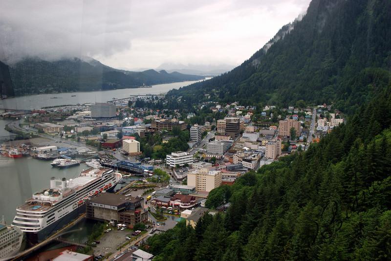 Photo By Robert Bodnar..... View of Juneau Alaska from Mt. Roberts Tram