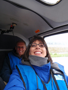 Helicopter tour - Dennis and Jenny (self portrait!)