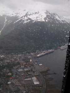 Helicopter tour - view of Juneau