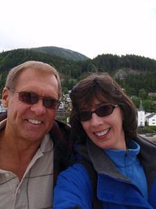 Dennis and Jenny in Ketchikan (self portrait!) in Ketchikan