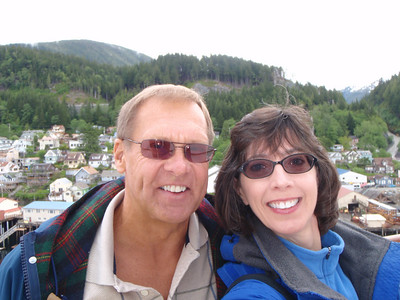 Dennis and Jenny in Ketchikan (self portrait!)in Ketchikan