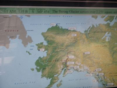 Train to Denali: GPS map of train route