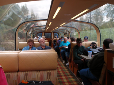 Train to Talkeetna: Ultradome train interior