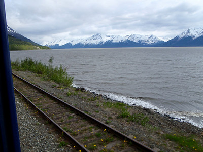 Train to Whittier scenic view
