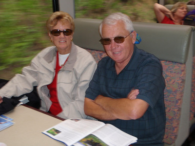 Kure Beach friends: Julia and Ron on train to Whittier