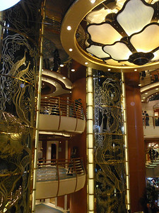Cruise ship: atrium