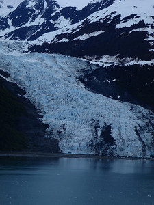 "College Fjord scenic view: notice the ""blue"" ice"