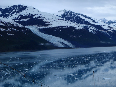 College Fjord scenic view: approaching glacier